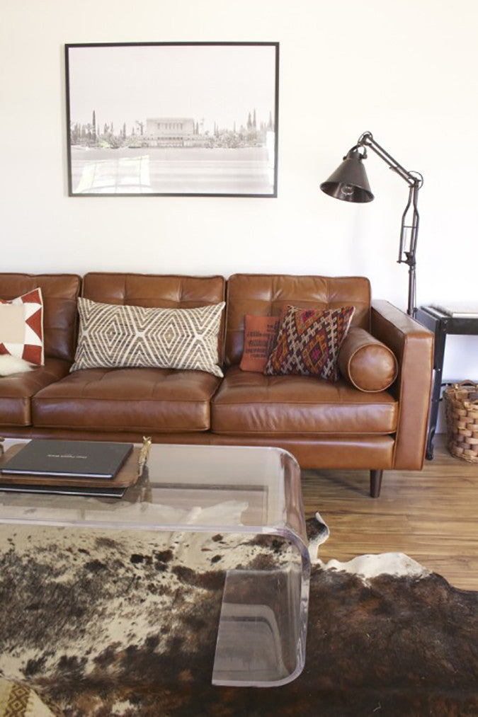 Camel Leather Sofa Styling