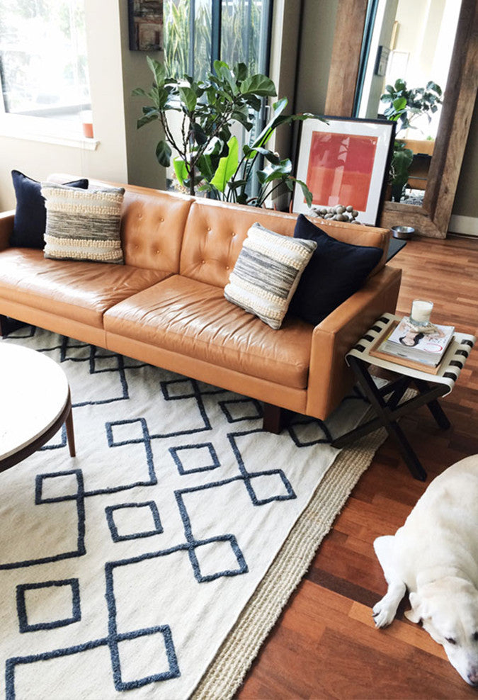 5 ways to style a camel leather sofa jaymee srp rh jaymeesrp com  camel colored leather sectional sofa