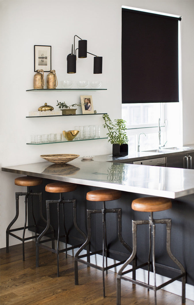 Charcoal Accent Wall in Kitchen