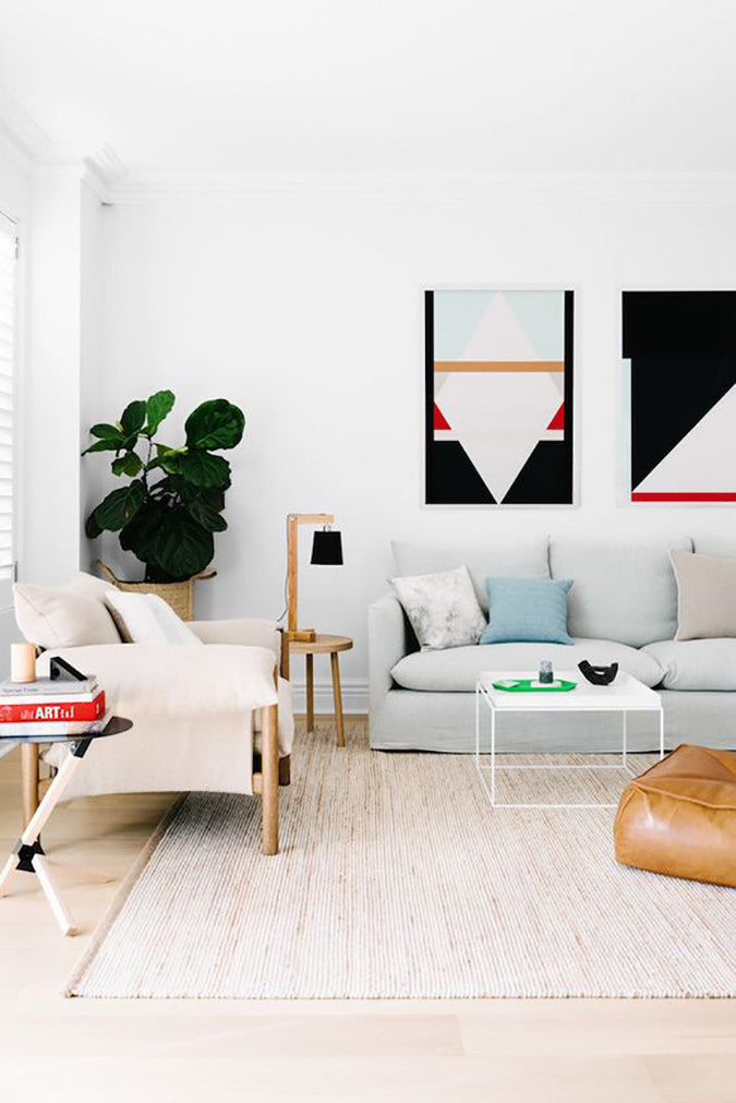 Graphic Modern Living Room