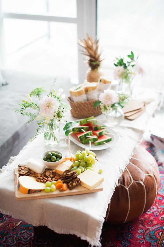 Coffee Table Food Styling - Image via Style Me Pretty