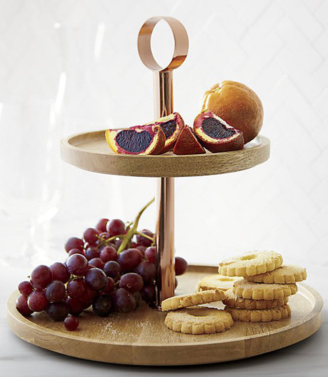 Tiered Wood Serving Tray - Image via Crate & Barrel