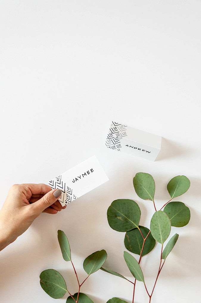Evergreen Printable Place Cards