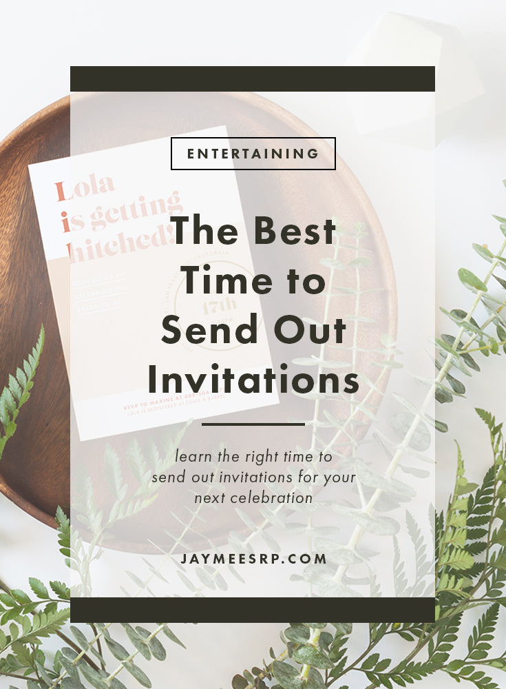 When to Send Out Invitations