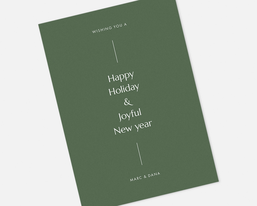 Simple Holiday Card - Green [Printable]