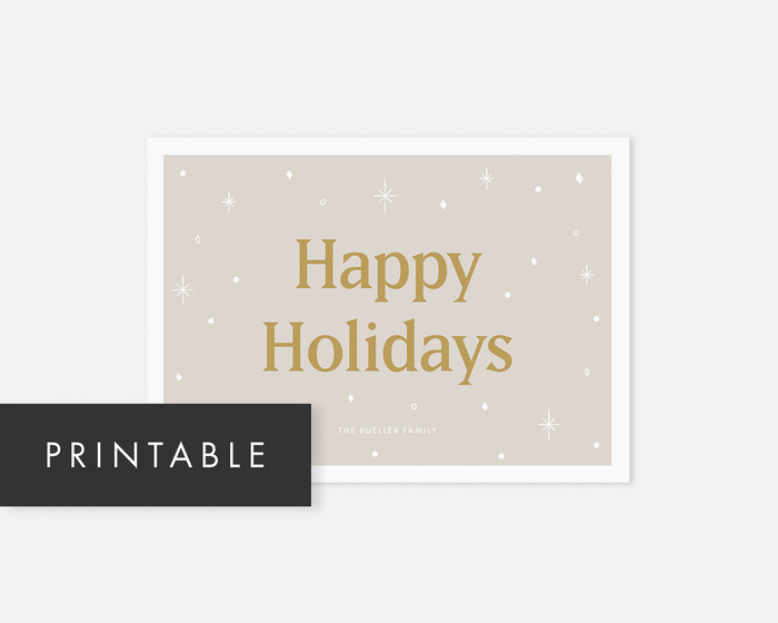 Starry Holiday Card [Printable]