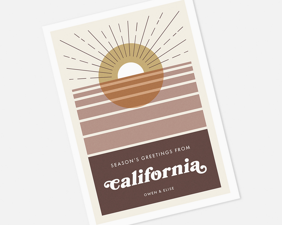 California Holiday Card [Printable]