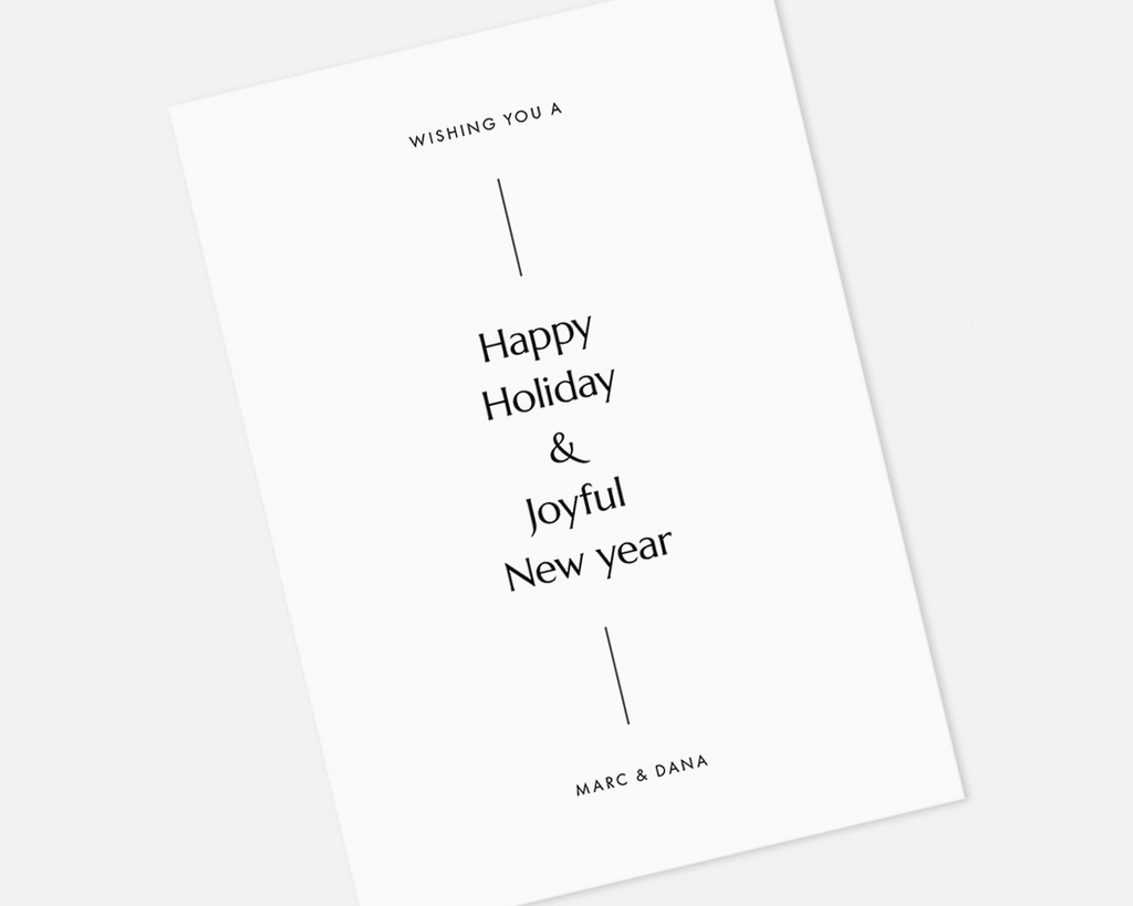 Simple Holiday Card - White [Printable]