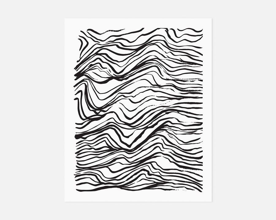Topography Art Print - Black