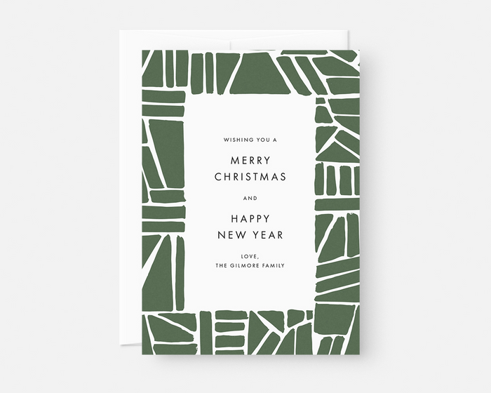 Puzzle Holiday Card - Green