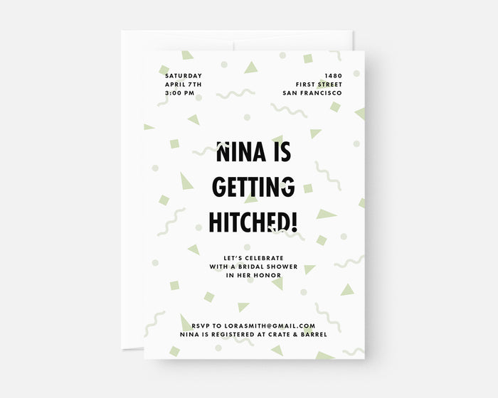 Confetti Invitation - Green