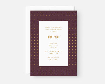 Dots Invitation - Burgundy