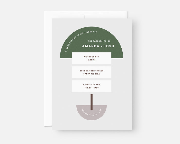 Geometric Invitation - Green
