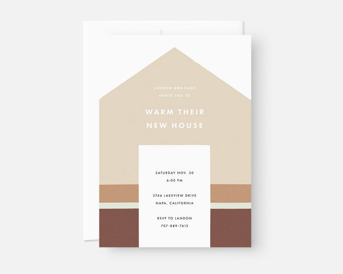 Home Invitation - Tan