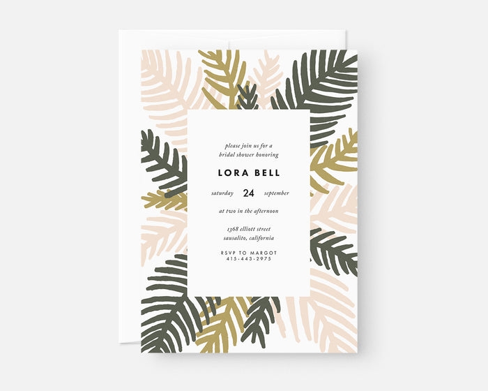Palm Leaf Invitation - Pink