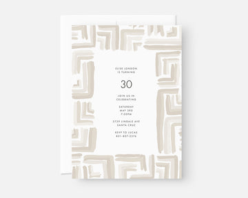 Right Angle Invitation - Taupe