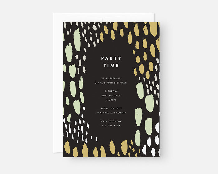Spotted Invitation - Green
