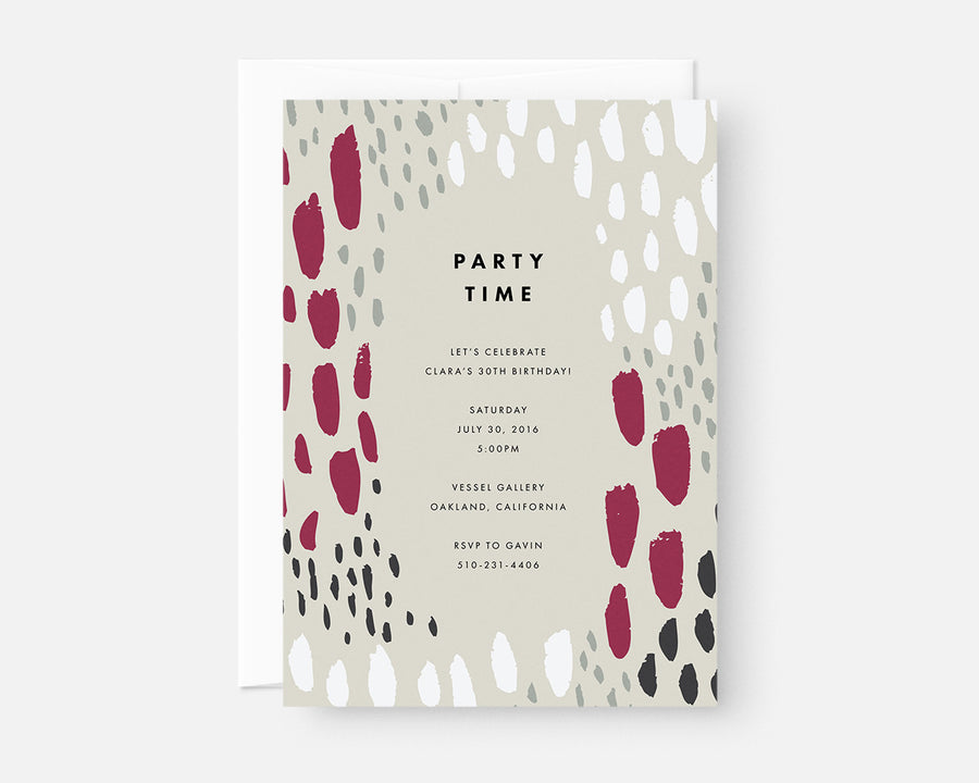 Spotted Invitation - Taupe