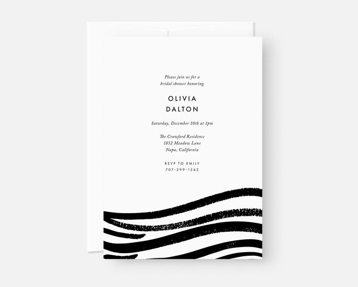 Swell Invitation - Black