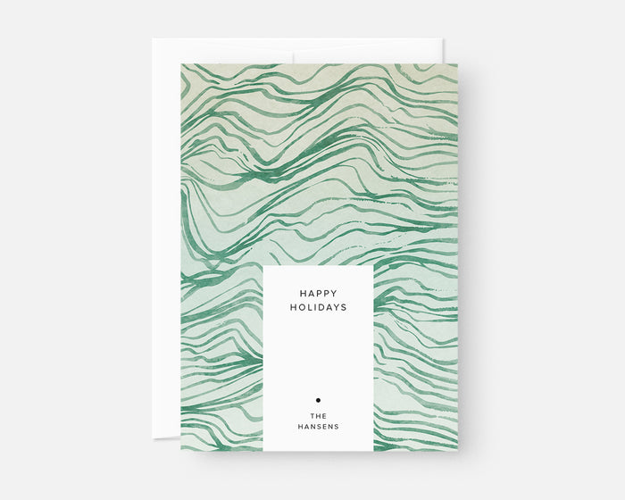 Topography Holiday Card - Green