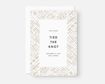 Modern Elopement Announcement Card