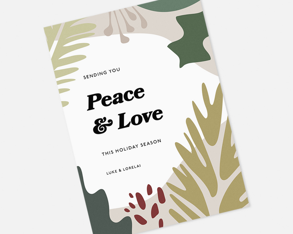 Peace and Love Holiday Card [Printable]
