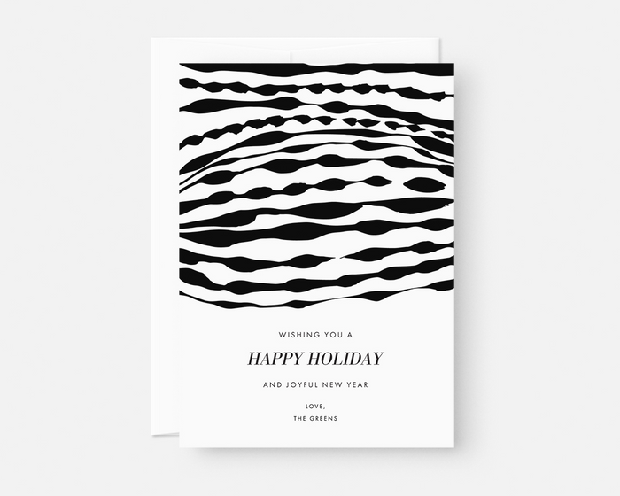 Ripple Holiday Card - Black