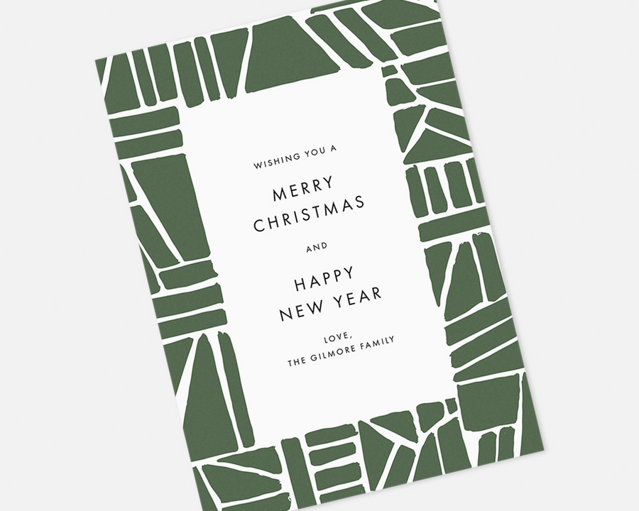 Puzzle Holiday Card - Green [Printable]