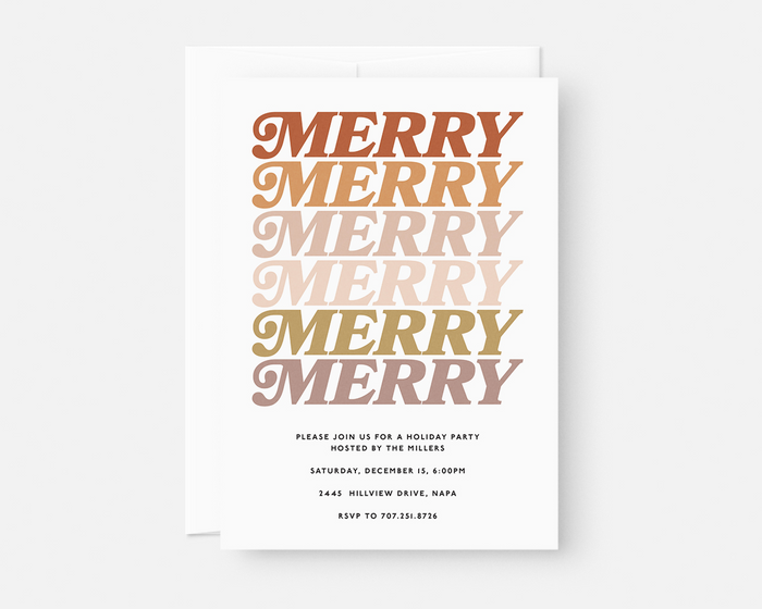Merry Merry Invitation