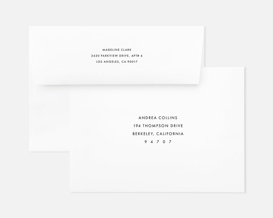 Simple Holiday Card - White