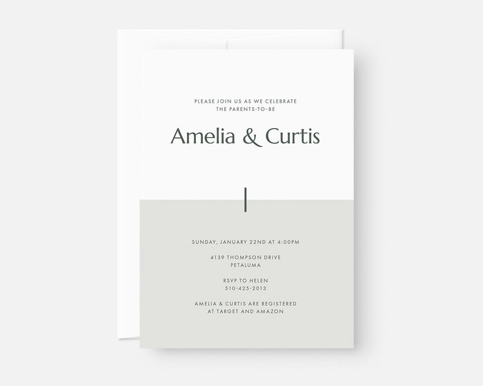Color Block Invitation - Green