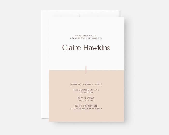 Color Block Invitation - Pink