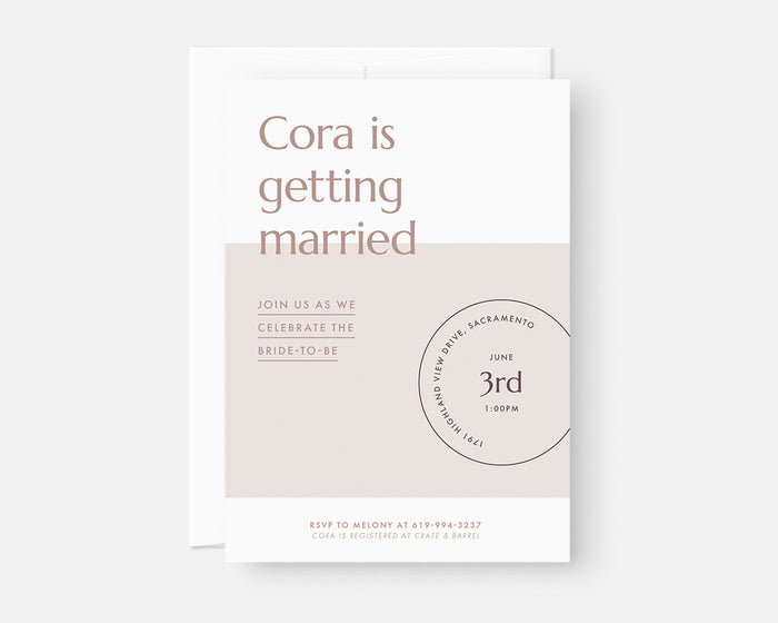 Date Stamp Invitation - Lilac