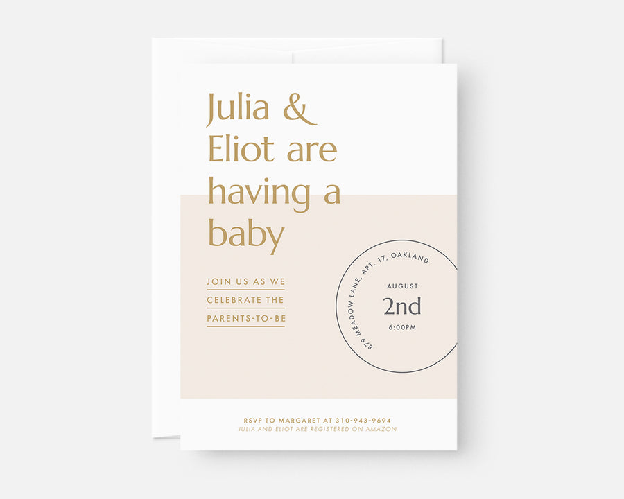 Date Stamp Invitation - Yellow