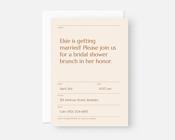 Memo Invitation - Orange