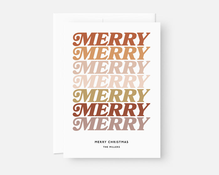 Merry Merry Holiday Card