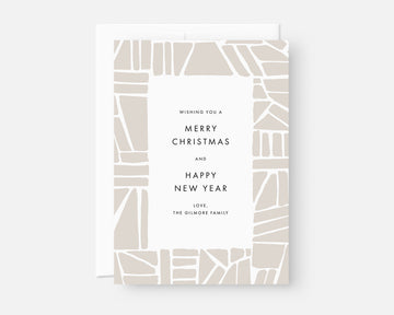 Puzzle Holiday Card - Taupe