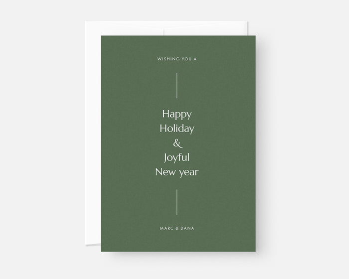 Simple Holiday Card - Green