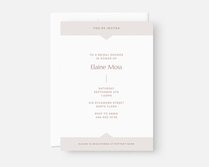 Summit Invitation - Taupe