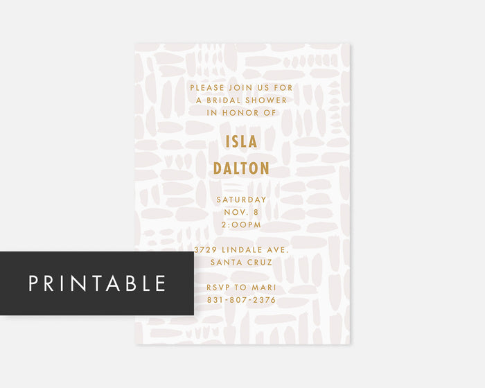 Gridlock Invitation - Gray [Printable]