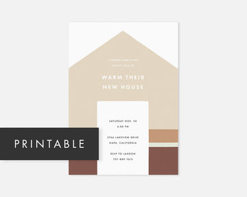 Home Invitation - Tan [Printable]