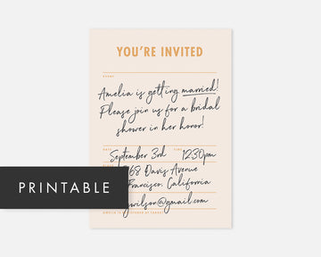 Memo Invitation - Pink [Printable]