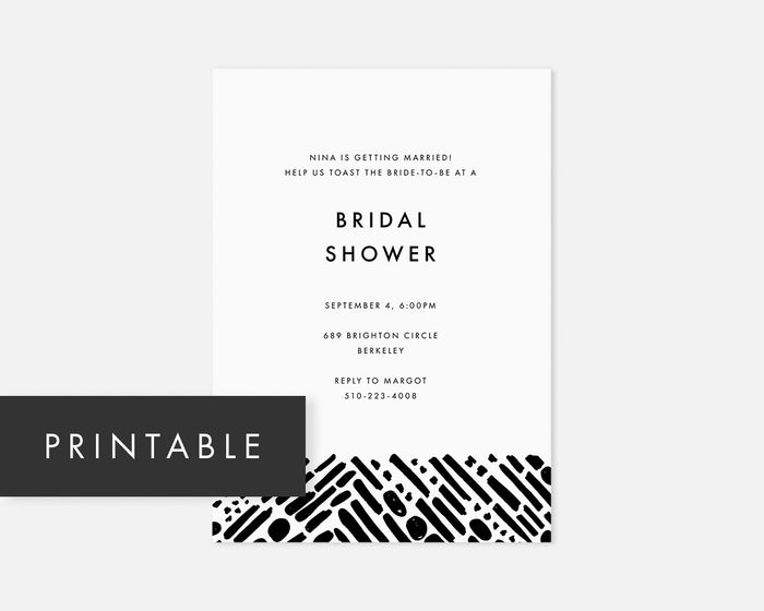 Tunnel Invitation - Black [Printable]