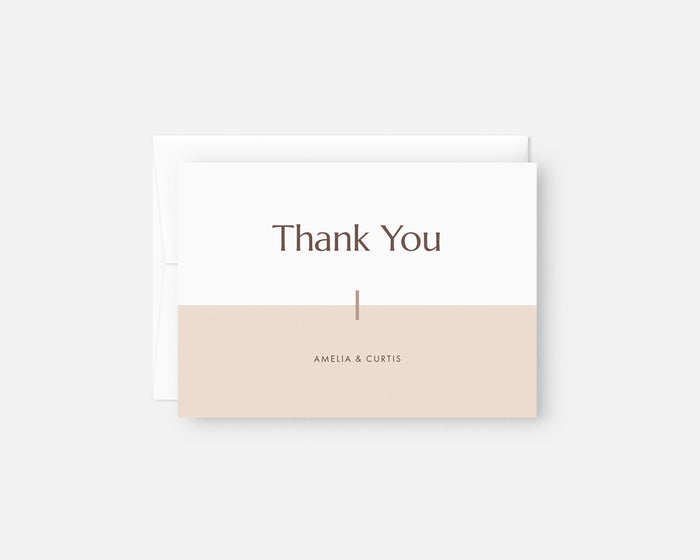 Color Block Thank You Notes - Pink