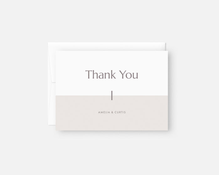 Color Block Thank You Notes - Taupe