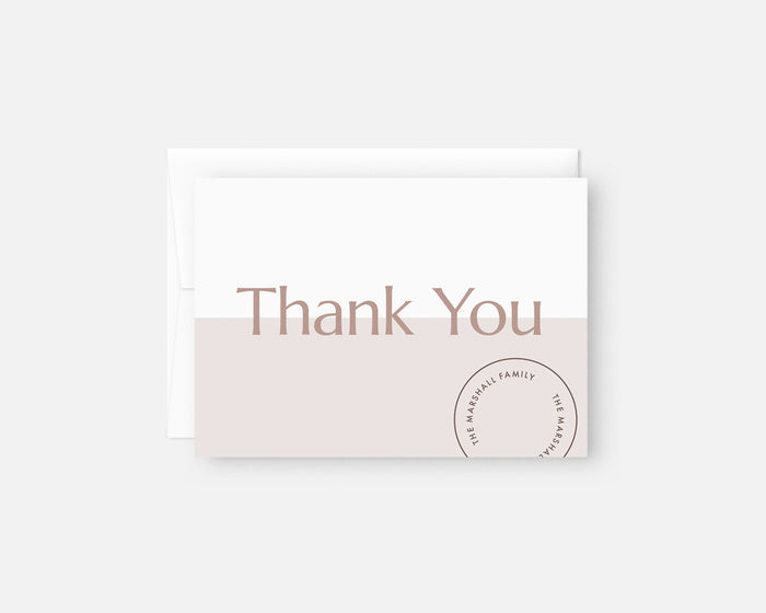 Date Stamp Thank You Notes - Lilac
