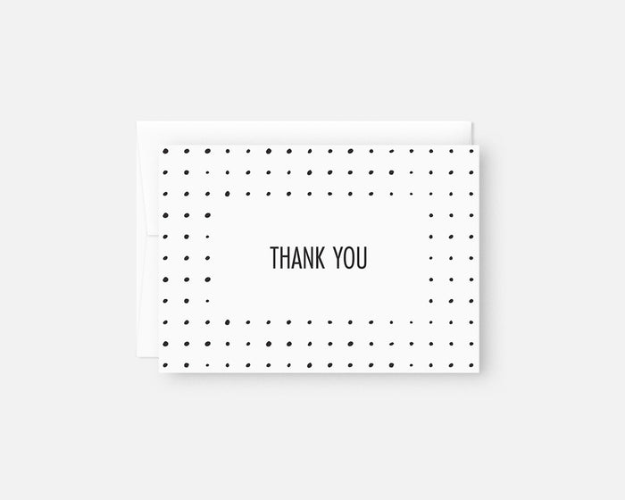 Dots Thank You Notes - Black