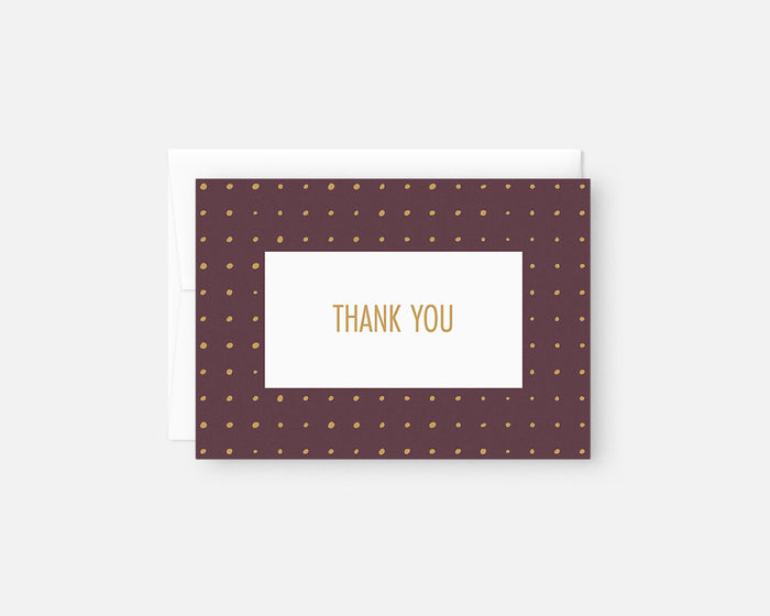 Dots Thank You Notes - Purple