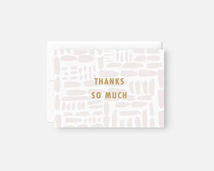 Gridlock Thank You Notes - Gray