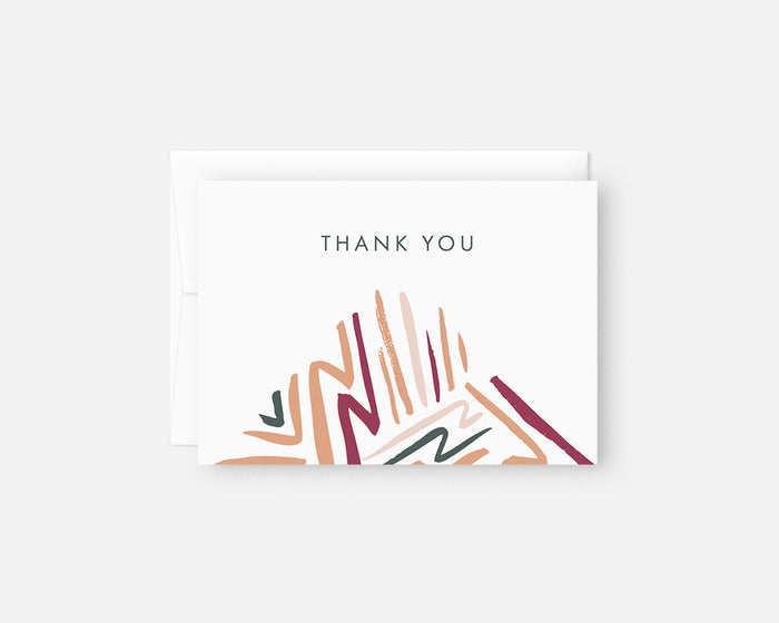 colorful patterned thank you notes